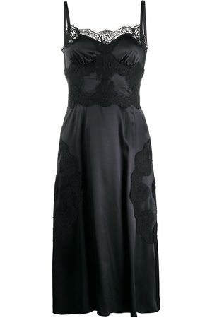 Dolce & Gabbana Satin lace-trim dress