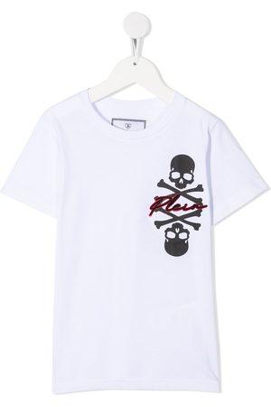 Philipp Plein Round neck Skull and Plein logo T-shirt