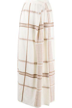 GENTRYPORTOFINO Intarsia-knit long skirt