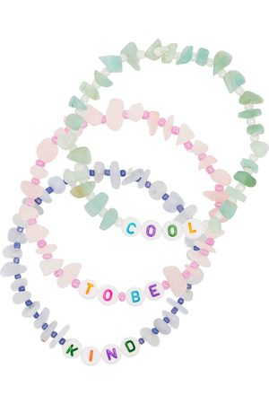 TBalance Multicoloured Cool To Be Kind gemstone bracelet set
