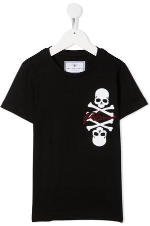 Philipp Plein Round neck skull print T-shirt