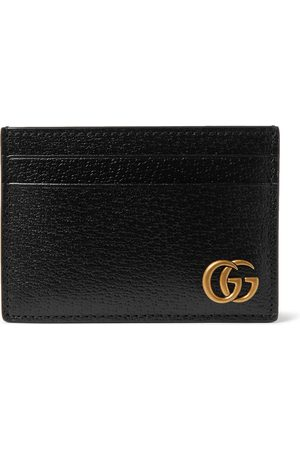Gucci Men Wallets - GG Marmont Full-Grain Leather Cardholder with Money Clip