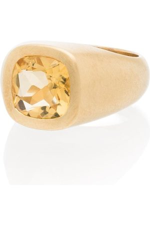 Shola Branson Citrine crystal-embellished ring