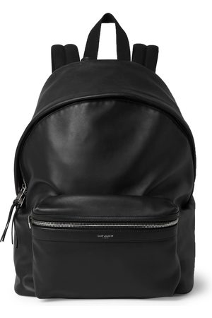 Saint Laurent Men Rucksacks - City Leather Backpack