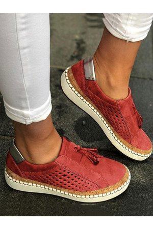 YOINS Canvas Solid Color Tassel Single Shoes