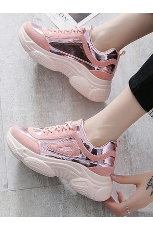 YOINS Laser Spliced Bright Sports Sneakers