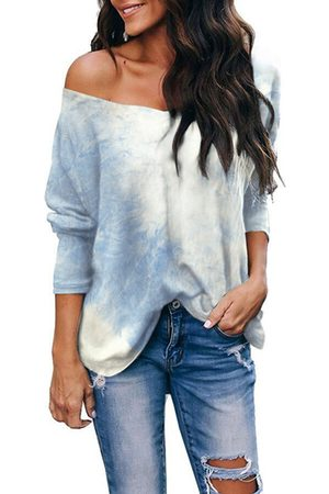 YOINS Tie Dye V-neck Long Sleeves Tee