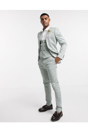 ASOS Wedding super skinny suit trousers in stretch cotton in dusky