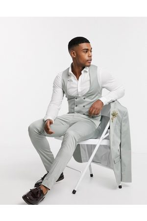 ASOS Wedding super skinny suit waistcoat in stretch cotton in dusky