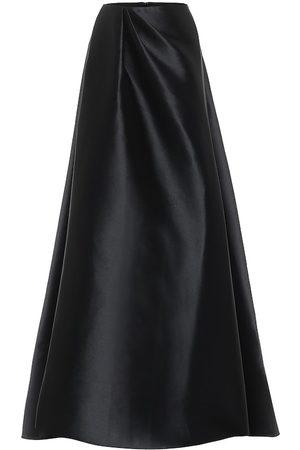 ALEX PERRY Dresden high-rise satin maxi skirt
