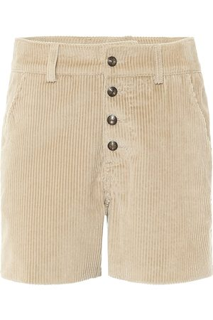 Etro High-rise corduroy shorts