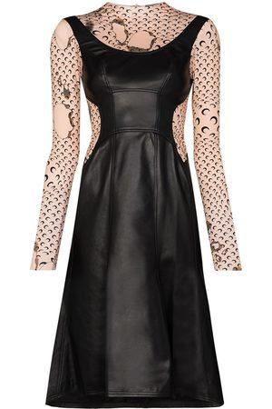 Marine Serre Burnt print layered dress