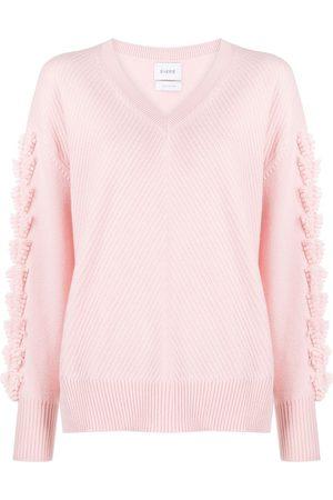 Barrie Oversized V-neck cashmere jumper
