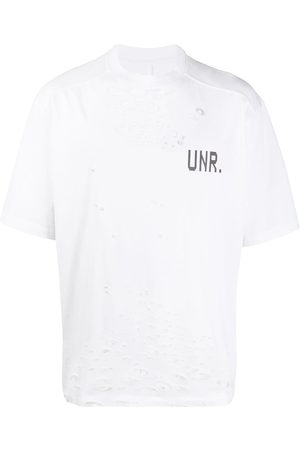 Unravel Project LAX Distress printed T-shirt