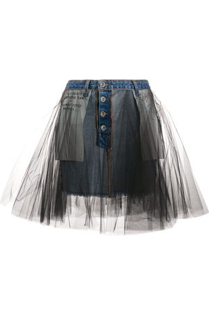 Unravel Project Tulle-overlay skirt