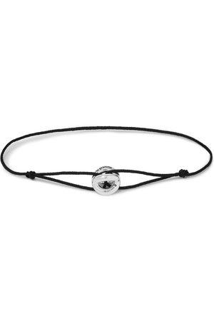 Le Gramme Men Bracelets - Sterling Silver and Cord Bracelet