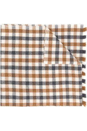 ELEVENTY Fringed gingham scarf