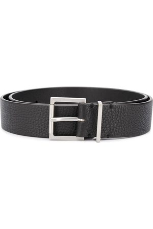 Maison Margiela Signature white stitch detail buckle belt