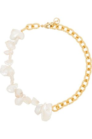 Anissa Kermiche Two Faced Shelley pearl anklet