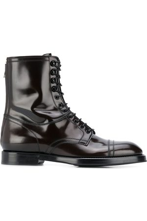 Dolce & Gabbana Ankle lace-up leather boots