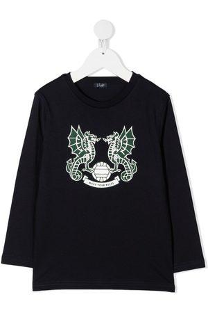 Il gufo Dragon-print cotton sweatshirt