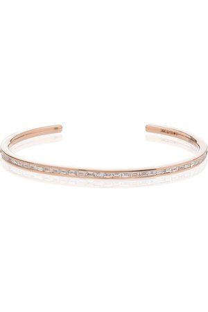 Anita 18kt rose gold Baguette diamond-embellished bangle