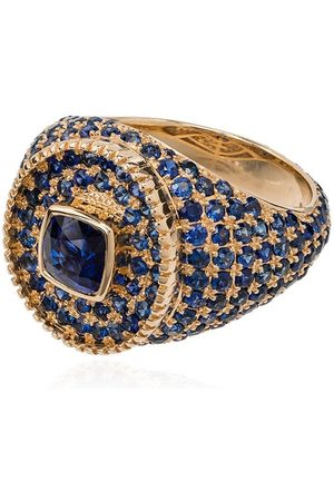 O THONGTHAI 14kt and sapphire signet ring