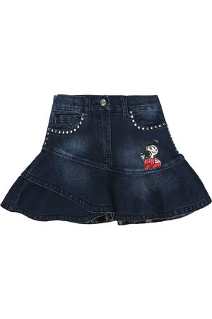 MONNALISA Olive Oyl denim skirt