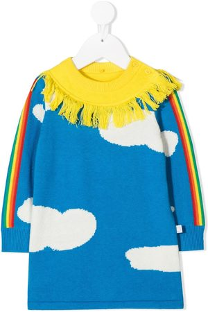 Stella McCartney Cloud-print fringed dress