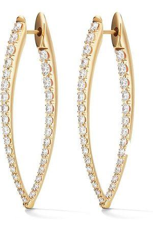 Melissa Kaye 18kt yellow and diamond Cristina large earrings