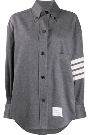 Thom Browne 4-Bar supersized shirt jacket