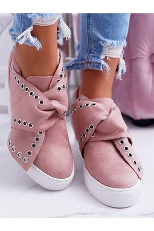 YOINS Fashion Rivet Strap Loafers