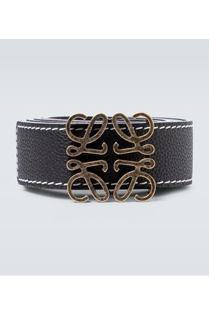 Loewe Anagram reversible leather belt