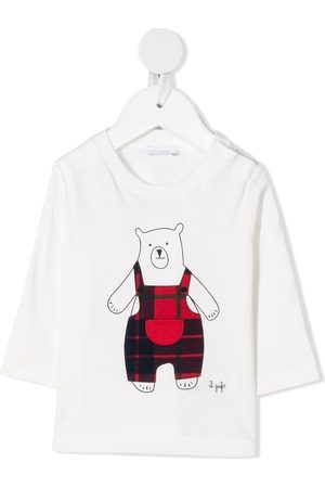 Il gufo Bear-print logo T-shirt
