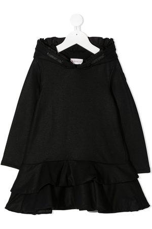 Moncler Hooded ruffle detail dress