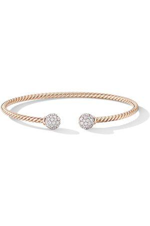 David Yurman 18kt rose 7mm Solari diamond cuff