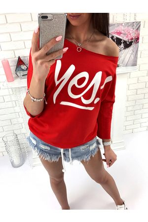 YOINS Letter Print One Shoulder Long Sleeves Tee