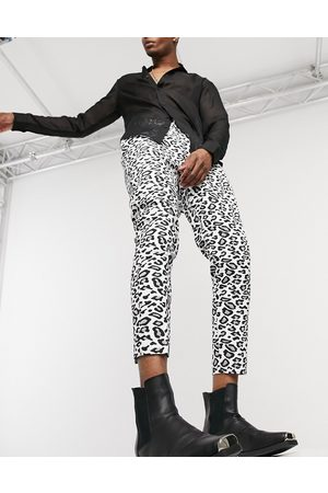 ASOS Tapered trouser in leopard print