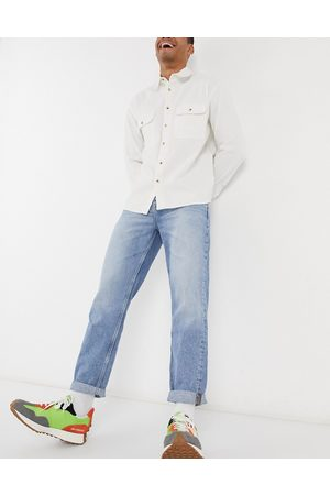 ASOS Straight crop jeans in vintage light wash