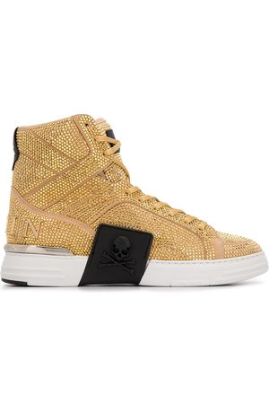 Philipp Plein Studded high-top trainers