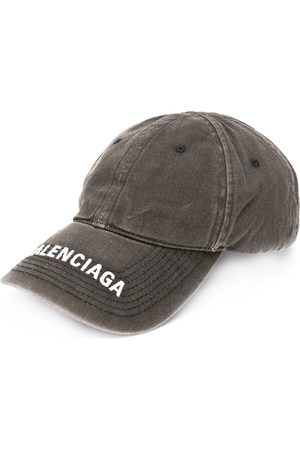 Balenciaga Embroidered logo denim cap
