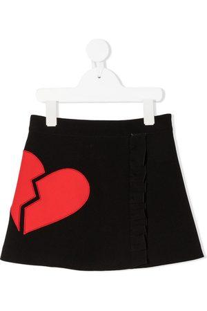 Msgm Broken heart mini skirt