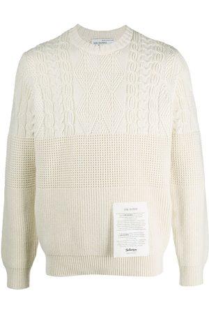 BALLANTYNE Logo patch cashmere knit jumper