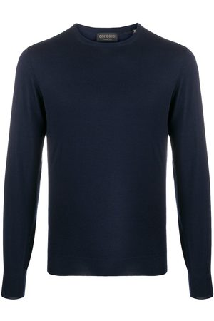 DELL'OGLIO Crew neck ribbed sweater