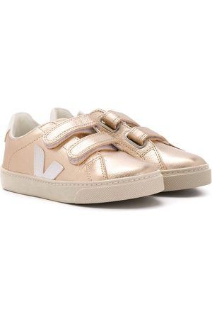 Veja Laminated touch strap sneakers