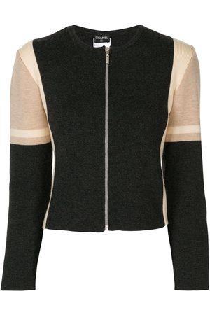 CHANEL 2000s fine knit zip-up cardigan