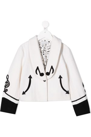 Stella McCartney Music note-embroidered jacket