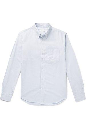 CLUB MONACO Button-Down Collar Striped Cotton Oxford Shirt