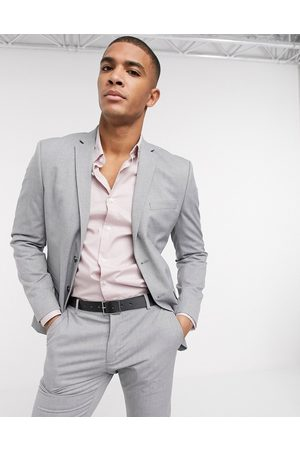 Selected Suit jacket with stretch in slim fit light