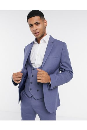 ASOS Wedding super skinny suit jacket with micro texture in mid